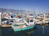Fishing Boats  Santa Barbara Harbor  California  United States of America  North America