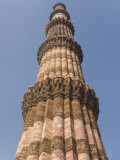 Qutb Minar  Victory Tower Built Between 1193 and 1368 of Sandstone  73M High  Delhi  India