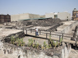 Ruins  Templo Mayor  Aztec Temple Unearthed in the 1970S  Mexico City  Mexico  North America