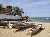 Pirogues (Fishing Boats) on Beach  Goree Island  Near Dakar  Senegal  West Africa  Africa