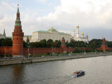 View over the Kremlin and the Moskva River  Moscow  Russia  Europe