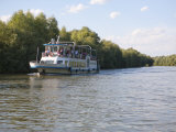 Tourist Boat  Danube River Delta  Romania  Europe