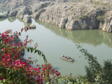 Marble Rocks Gorge  on the Narmada River  Bhedaghat  Jabalpur  Madhya Pradesh State  India