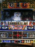 Bus with Religious Signs  Senegal  West Africa  Africa
