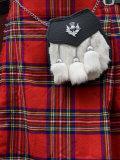 Scottish Kilt and Purse on Display for Sale  Edinburgh  Scotland  United Kingdom  Europe