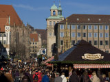 Christkindelsmarkt (Christ Child's Market) (Christmas Market)  Nuremberg  Bavaria  Germany  Europe