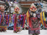 Lamas Dancing at the Hemis Festival  Ladakh  India  Asia