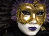 Mask at Venice Carnival  Venice  Veneto  Italy  Europe