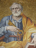 Mosaic Depicting St Peter in St Peter's Basilica  Vatican  Rome  Lazio  Italy  Europe