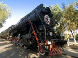 Front of an Old Locomotive  Railway Museum  Tashkent  Uzbekistan  Central Asia  Asia