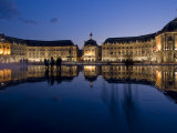 Place De La Bourse at Night  Bordeaux  Aquitaine  France  Europe