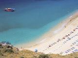 Boat and Beach  Antalya  Anatolia  Turkey Minor  Eurasia
