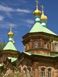 Russian Orthodox Church in Karakol  Kyrgyzstan  Central Asia