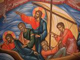 Greek Orthodox Icon Depicting Jesus and His Apostles on Lake Tiberias  Macedonia  Greece