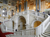 Main Staircase at the Winter Palace St Petersburg  Russia  Europe