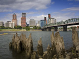 Hawthorne Bridge over the Willamette River  Portland  Oregon  United States of America