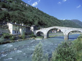 Ganda Bridge over the Adda River Near Morbegno  Valtellina  Lombardy  Italy  Europe