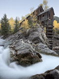 Crystal Mill with Aspens in Fall Colors  Crystal  Colorado  United States of America  North America