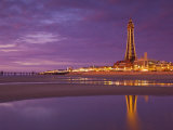 Blackpool Illuminations at Sunset  Blackpool  Lancashire  England  United Kingdom