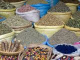 Herbs and Spices for Sale in the Souk  Marrakech (Marrakesh)  Morocco  North Africa  Africa