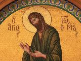 Greek Orthodox Icon Depicting St John the Baptist  Thessaloniki  Macedonia  Greece  Europe