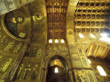 Cathedral Interior  Monreale  Palermo  Sicily  Italy  Europe