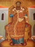 Fresco in St Gregory Palamas Greek Orthodox Church  Thessaloniki  Macedonia  Greece  Europe