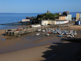 Harbour of Seaside Town of Tenby  Pembrokeshire Coast National Park  Wales  United Kingdom