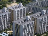 High-Rise Housing Development Built on the Reclaimed Land of Sakishima Island  Osaka  Japan