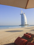 Jumeirah Beach and the Burj Al Arab Hotel  Dubai  United Arab Emirates  Middle East