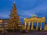 Brandenburg Gate at Christmas Time  Berlin  Germany  Europe