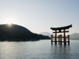 Itsukushima Shrine Torii Gate  UNESCO World Heritage Site  Miyajima Island  Japan