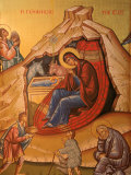 Greek Orthodox Icon Depicting Christ's Birth  Thessaloniki  Macedonia  Greece  Europe