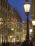 Christmas in Dam Square and Kalvestraat  Amsterdam  Netherlands  Europe