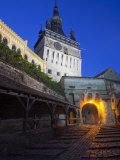 Clock Tower  Sighisoara  UNESCO World Heritage Site  Transylvania  Romania  Europe