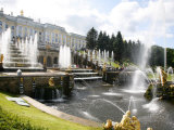 Grand Cascade at Peterhof Palace (Petrodvorets)  St Petersburg  Russia  Europe