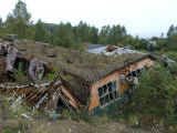 School Destroyed During the 2000 Eruption of Usu Volcano  Toya-Shikotsu National Park  Japan