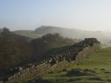 Walltown Crags Looking East  Hadrians Wall  UNESCO World Heritage Site  Northumberland  England