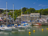 Yachts at High Tide in Padstow Harbour  Padstow  North Cornwall  England  United Kingdom  Europe