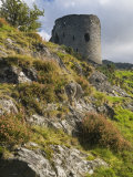 Derelict Keep of Dolbadarn Castle on Banks of Llyn Padarn  Snowdonia National Park  Wales