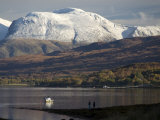 Ben Nevis Range  Seen from Loch Eil  Grampians  Western Scotland  United Kingdom  Europe