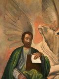 Icon of St Luke at Aghiou Pavlou Monastery  UNESCO World Heritage Site  Mount Athos  Greece