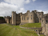Keep from the Curtain Wall  Alnwick Castle  Northumberland  England  United Kingdom  Europe
