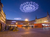 Plaza Mayor at Christmas Time  Madrid  Spain  Europe