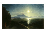 View of the Bay of Naples with the Castel del'Ovo as seen from Posillipo  1892