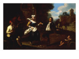 Landscape with Peasants dancing to a Mandolin