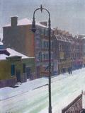 A London Street in Snow  1917