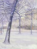 Parc sous la Neige  Paris  c1888
