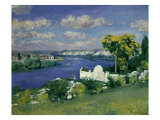 Paysage au Bord de la Riviere  1893