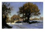 First Snow in Brittany  1881